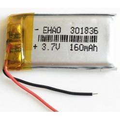 Аккумулятор 160mAh 3.7V 301836 литий-полимер