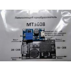 Повышающий DC-DC регулируемый преобразователь на MT3608 с microUSB