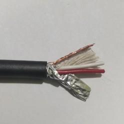 Кабель микрофонный 2-х жильный экранированный, 15х0,12мм (1 метр)