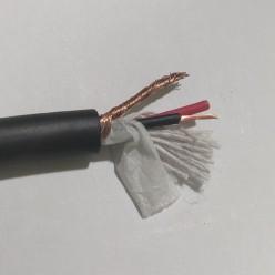 Кабель микрофонный 2-х жильный, 15х0,12мм (1 метр)