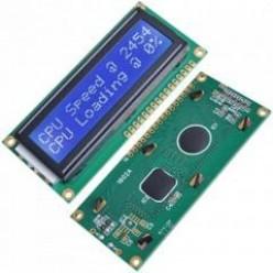 ЖКИ индикатор 1602 HD44780 LCD двухстрочный 16 символьный